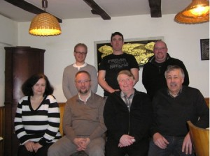 Erntedankfestvorstand v.l.n.r:  † Rosemarie Klaes, Sebastian Schuh, Udo Otterbach, Pascal Esch, Andreas Quast, Thomas Hermann und Herbert Hombach
